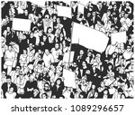 black and white illustration of ...   Shutterstock .eps vector #1089296657