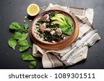 pasta with cuttlefish ink ... | Shutterstock . vector #1089301511
