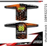 long sleeve motocross jerseys t ... | Shutterstock .eps vector #1089322721