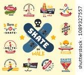 skateboarders people tricks... | Shutterstock .eps vector #1089327557