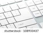 keyboard with white blank enter ... | Shutterstock . vector #108933437