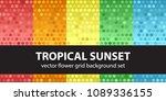 flower pattern set tropical...   Shutterstock .eps vector #1089336155