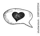 dialogue with heart icon vector ... | Shutterstock .eps vector #1089339554