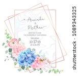 polygonal floral vector design...   Shutterstock .eps vector #1089343325