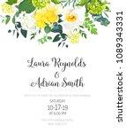 yellow wedding botanical vector ... | Shutterstock .eps vector #1089343331