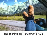 girl legs in bright boots... | Shutterstock . vector #1089346421