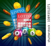 lottery tickets  balls and... | Shutterstock .eps vector #1089351371