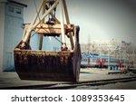 grapple truck close to. | Shutterstock . vector #1089353645