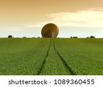 giant space antenna in the... | Shutterstock . vector #1089360455