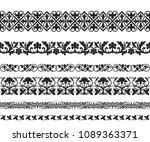 set of black seamless classic...