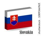 the national flag of slovakia ... | Shutterstock .eps vector #1089366965