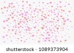 heart watercolor shape  pink... | Shutterstock . vector #1089373904