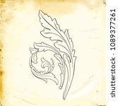 retro baroque decorations... | Shutterstock .eps vector #1089377261