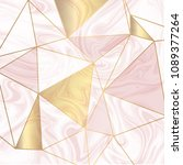 low poly design with gold... | Shutterstock .eps vector #1089377264