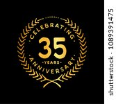 35 years design template. 35th... | Shutterstock .eps vector #1089391475