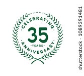 35 years design template. 35th... | Shutterstock .eps vector #1089391481