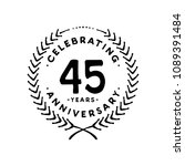 45 years design template. 45th... | Shutterstock .eps vector #1089391484