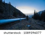 water pipeline in the mountains | Shutterstock . vector #1089396077