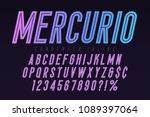 mercurio inline font  typeface  ... | Shutterstock .eps vector #1089397064
