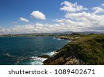 sea and sky with clouds in... | Shutterstock . vector #1089402671