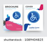 disabled brochure flyer design... | Shutterstock .eps vector #1089404825