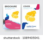 chick brochure flyer design... | Shutterstock .eps vector #1089405041
