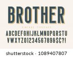 trendy vintage display font... | Shutterstock .eps vector #1089407807