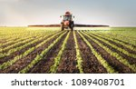 tractor spraying soybean field... | Shutterstock . vector #1089408701