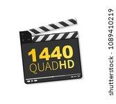 logo 1440 quad hd. vector... | Shutterstock .eps vector #1089410219