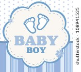 vector background for a baby boy | Shutterstock .eps vector #108941525