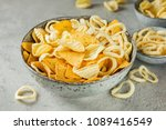 crispy potato chips and onion... | Shutterstock . vector #1089416549