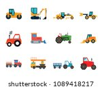 heavy cars icon set. tractor... | Shutterstock .eps vector #1089418217