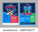 cricket tournament sport poster ... | Shutterstock .eps vector #1089418277