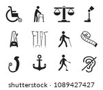 disabled icons set with... | Shutterstock .eps vector #1089427427
