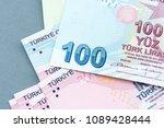 turkish banknotes  turkish lira ... | Shutterstock . vector #1089428444