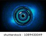binary circuit board future... | Shutterstock .eps vector #1089430049