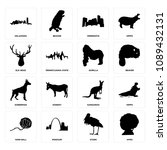 set of 16 simple editable icons ... | Shutterstock . vector #1089432131