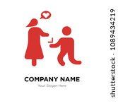 marry me company logo design... | Shutterstock .eps vector #1089434219
