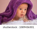 innocent kid  do face doubt ... | Shutterstock . vector #1089436301