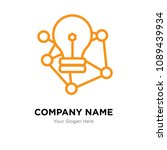 deep learning company logo... | Shutterstock .eps vector #1089439934