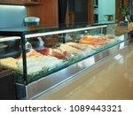 counter japanese sushi bar... | Shutterstock . vector #1089443321