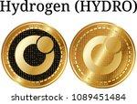 set of physical golden coin...   Shutterstock .eps vector #1089451484