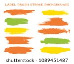 colorful label brush stroke... | Shutterstock .eps vector #1089451487