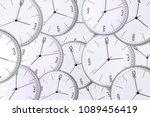clock background. concept lack... | Shutterstock . vector #1089456419