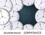 clock on a dark background.... | Shutterstock . vector #1089456425