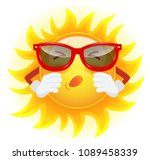 summer sun in sunglasses... | Shutterstock .eps vector #1089458339