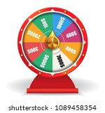 colorful wheel of luck with... | Shutterstock .eps vector #1089458354