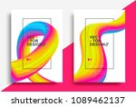 creative design 3d flow shape.... | Shutterstock .eps vector #1089462137