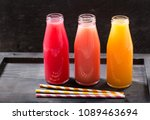 various cold drinks in a... | Shutterstock . vector #1089463694