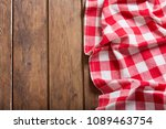 red checkered tablecloth on... | Shutterstock . vector #1089463754